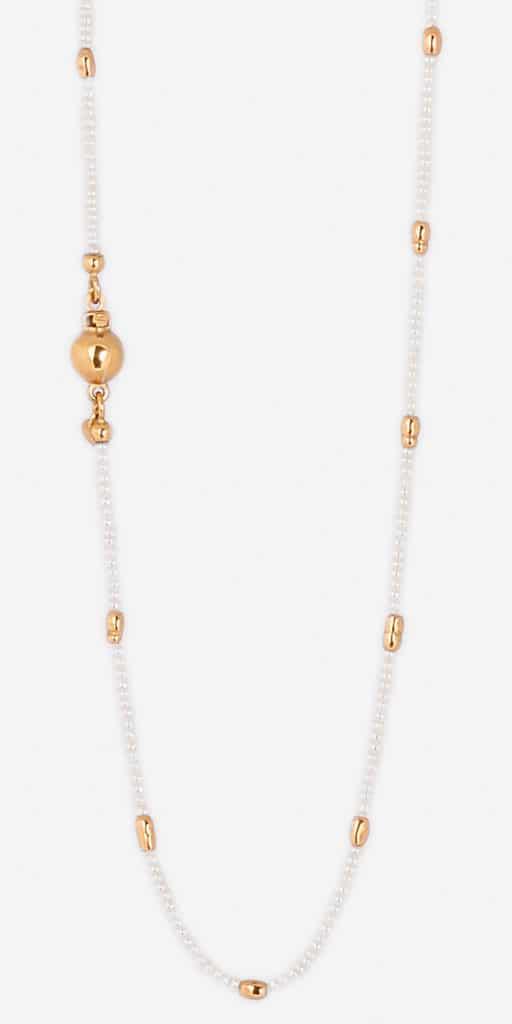 Collier sautoir en or et perles Orligne Genève